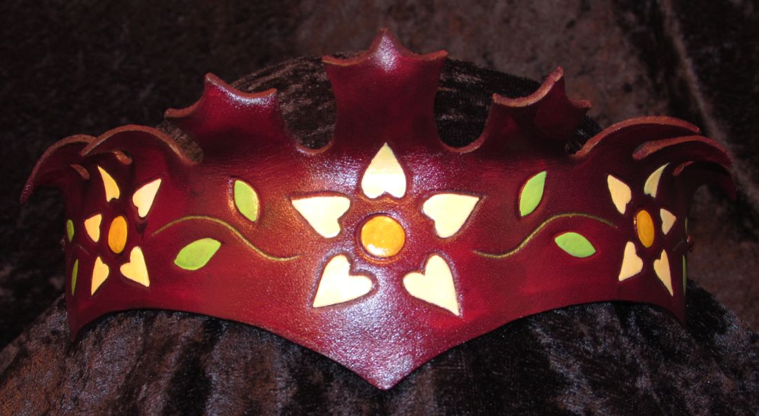 Leaf Crown Flowers- $65